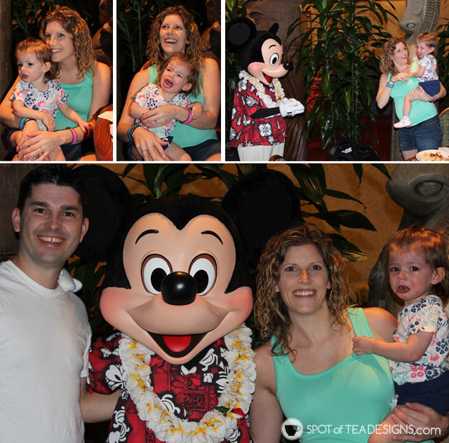 One toddler's experience meeting #MickeyMouse in #Disney | spotofteadesigns.com
