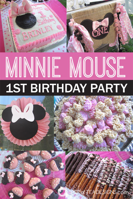 A Minnie Mouse First Birthday Party