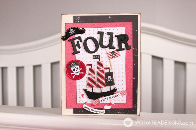 Handmade Pirate Birthday Card   spotofteadesigns.com