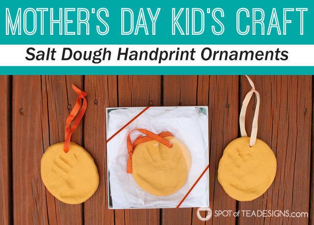 Mother's Day Kids Craft: Salt Dough Handprint Ornament