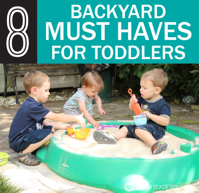8 must have backyard #toys for #toddlers. #summer #play | spotofteadesigns.com