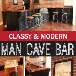 A Classy Take on the Man Cave Basement Bar