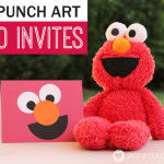 Elmo Birthday Party: DIY Punch Art Invitations