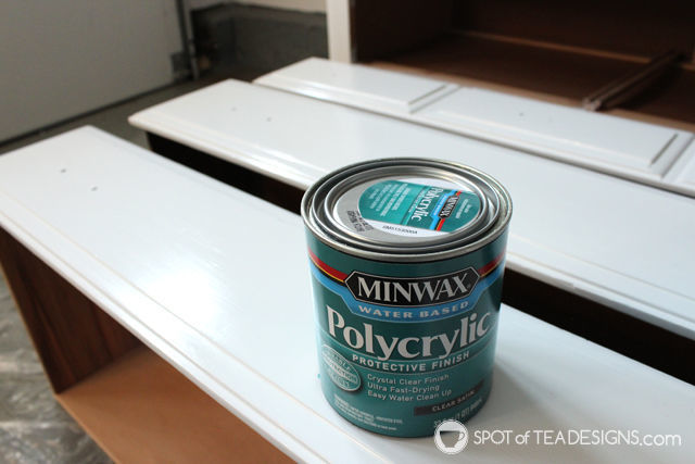 #Nursery Furniture Makeover - @MinWax Polycrylic Protective Finish| spotofteadesigns.com
