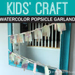 Kid Craft: Watercolor Popsicle Garland