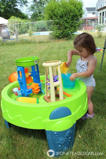8 must have backyard toys for #toddlers - water table | spotofteadesigns.com - 8 Backyard Must Haves For Toddlers Spot Of Tea Designs