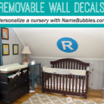 Personalize a Nursery with Removable Wall Decals From NameBubbles.com #sponsored