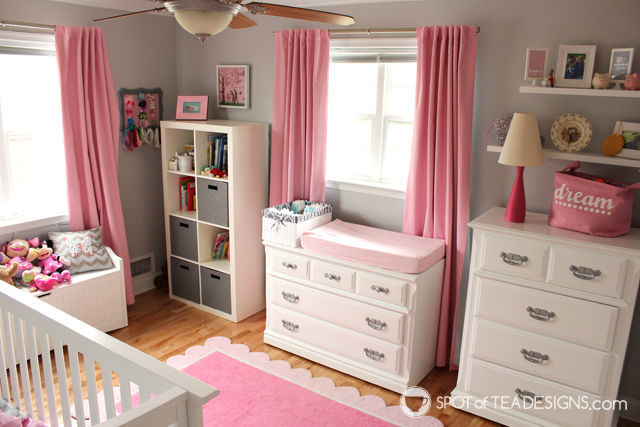 #Nursery Furniture Makeover - @Valspar_Paint #DIY | spotofteadesigns.com
