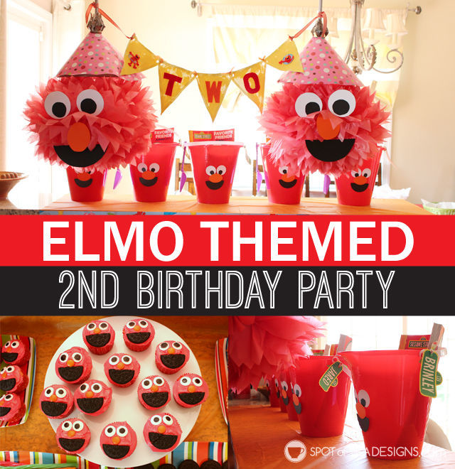 Elmo Birthday Party The Full Party Details Spot of Tea Designs