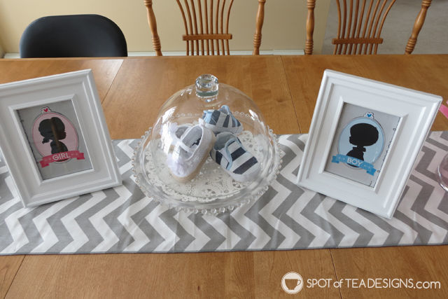 Fireworks Gender Reveal: table display #baby #genderreveal | spotofteadesigns.com