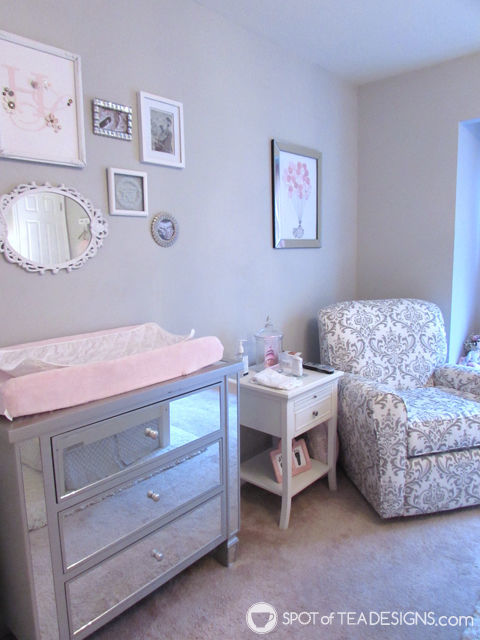 Pink, White & Grey #Baby #Nursery | spotofteadesigns.com