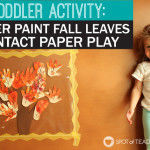 Finger Paint Fall Leaves Contact Paper Play
