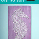 Under the Sea Nursery: Seahorse String Art with Free Printable