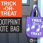 Trick or Treat Ghost Footprint Bag