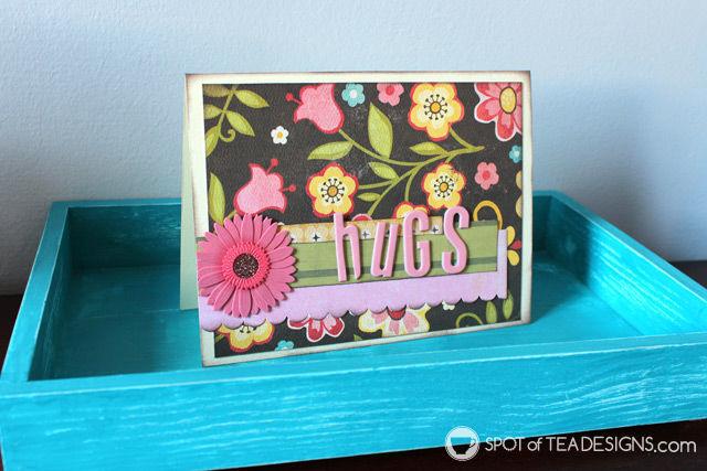 Handmade sympathy card | spotofteadesigns.com