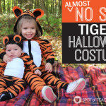 Almost No Sew Kids Tiger Halloween Costumes