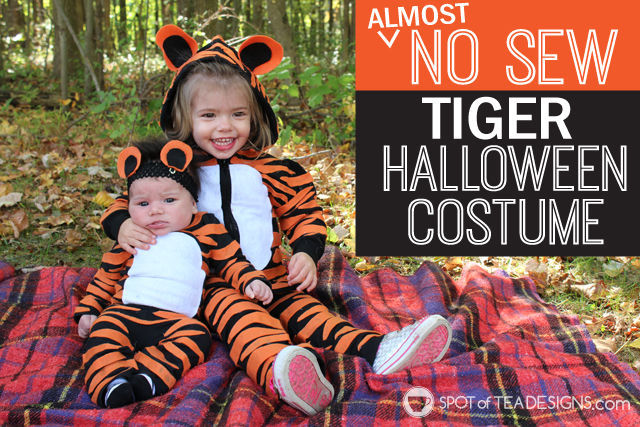 Almost No Sew Kids Tiger Halloween Costumes Spot Of Tea Designs