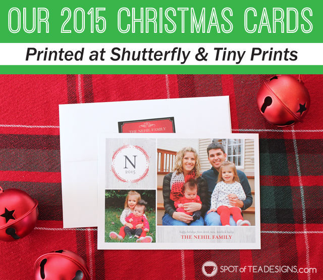 christmas card design from shutterfly and tinyprints spotofteadesignscom - Shutterfly Christmas Cards