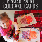 Kid Craft: Finger Paint Cupcake Card