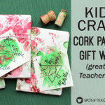 Cork Painted Gift Wrap Kids Craft – Great for Teacher Gifts
