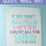 Under the Sea Nursery: Count the Waves Quote Wall Art