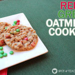 Baking Red and Green Oatmeal Cookies with a Toddler