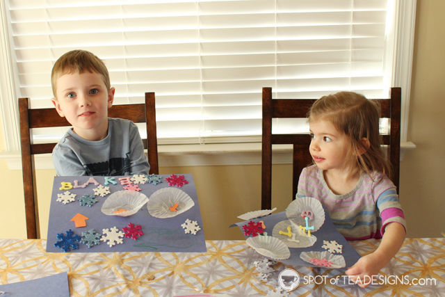 Snowman themed toddler playdate: snowman #kidscraft | spotofteadesigns.com