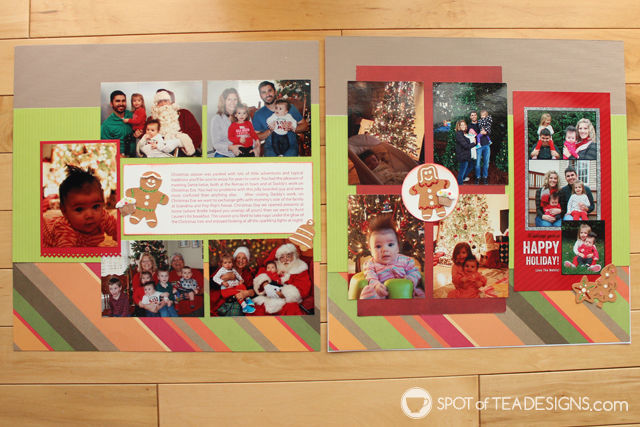 Hailey's First Year - Baby #Scrapbook - Christmas | spotofteadesigns.com