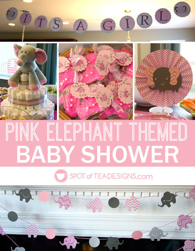 Pink Elephant Baby Shower {Guest Post}