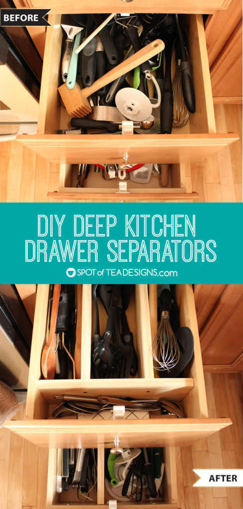 DIY Deep Drawers Separators