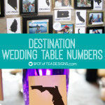 Destination Wedding Table Numbers