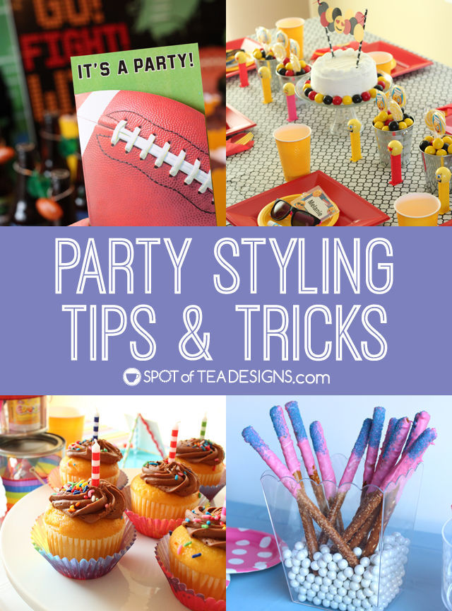 party styling tips and tricks spot of tea designs
