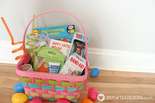 Non candy toddler easter basket ideas spot of tea designs non candy easter basket ideas for a toddler from books to art to hygiene negle Gallery