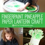 Fingerpaint Pineapple Paper Lantern