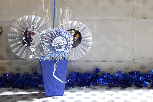 35th wedding anniversary party ideas DIY centerpiece | spotofteadesigns.com