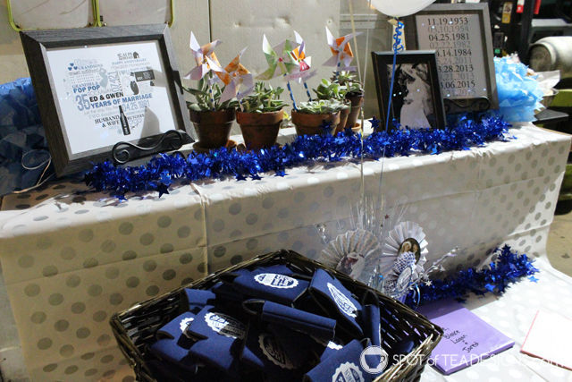35th wedding anniversary party ideas | spotofteadesigns.com