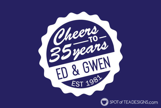 35th wedding anniversary party ideas - create a custom party logo! | spotofteadesigns.com