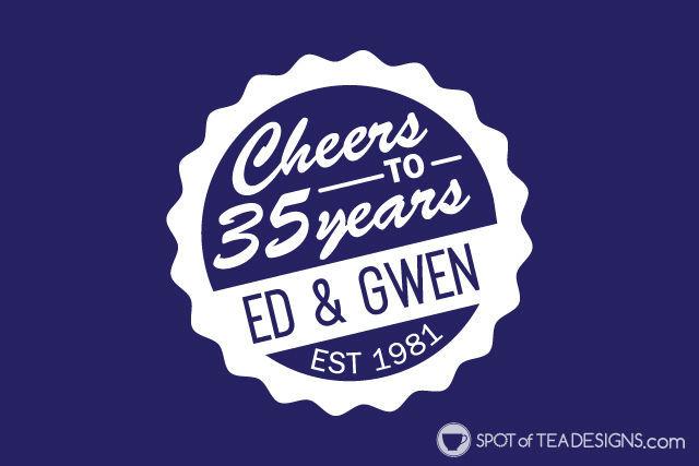 35th wedding anniversary party ideas - create a custom party logo! | spotofteadesigns.com