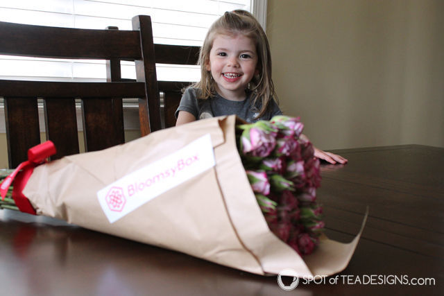 Everyone is eager to see the flowers bloom when a shipment from @BloomsyBox arrives! #BloomingHappy #ad | spotofteadesigns.com