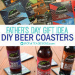 Father's Day Gift | DIY Beer Coasters from 6-Packs