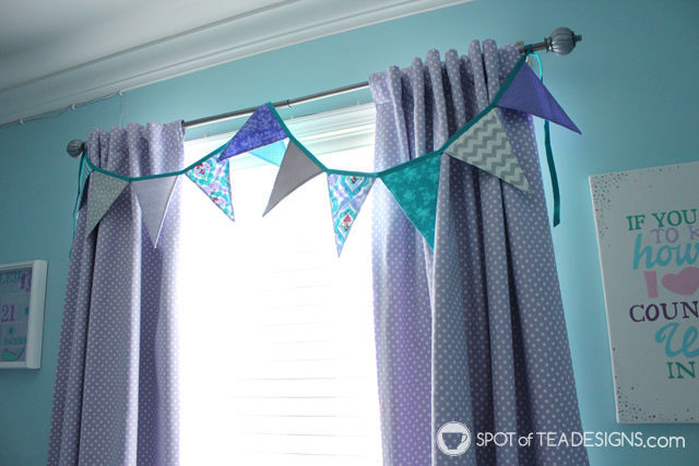 Handmade gift feature - fabric pennant bunting | spotofteadesigns.com
