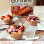 Toddler Summer Snack: Waffle Bowl Treats