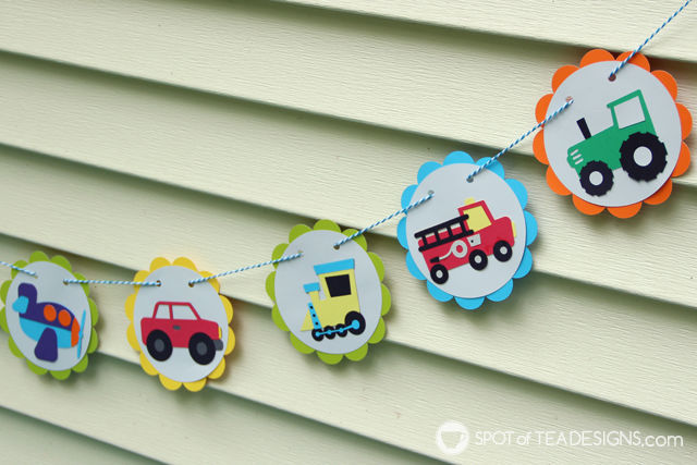 Transportation #birthday #party - ideas on decor, food, dessert and favors fit for your little man's big day! | spotofteadesigns.com