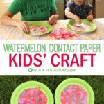 Watermelon Contact Paper Kids Craft