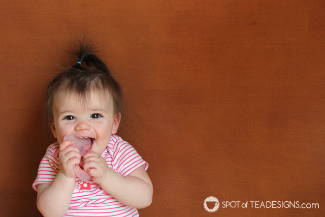 Top 5 Favorite products to help soothe a teething baby - Nuby Teether with bristles | spotofteadesigns.com