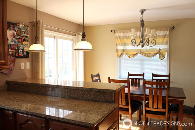 update to the Nehil family home - new kitchen lighting - before photos | spotofteadesigns.com