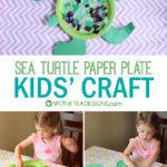 Sea Turtle Paper Plate Kids Craft