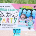 Under the Sea Birthday Party | Balloon Wall Backdrop Invitation