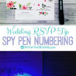 Wedding Invitation RSVP Tip: Spy Pen Numbers {GUEST POST}