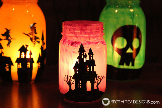 Halloween lantern DIY Craft | spotofteadesigns.com